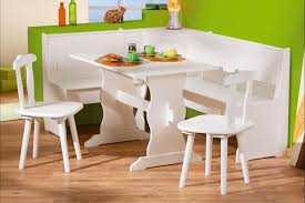 kitchen solid white corner kitchen table chairs and bench