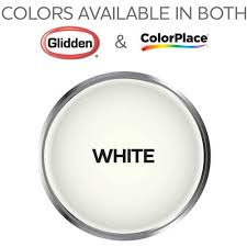 colorplace grab n go interior paint white flat finish 5 gallon