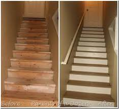 painting basement stairs quick u0026 inexpensive way to transform the