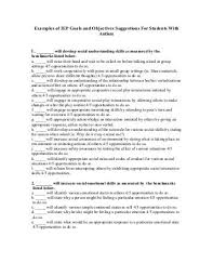 writing measurable iep goals and objectives sample attainment