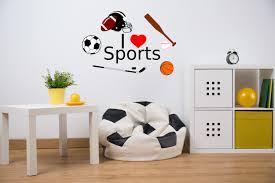 i love sports decal sports boys room art boys room decals 1
