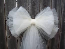Pew Decorations For Wedding Tul Pew Arco Más De 20 Colores Tul Decoración Del Por Onefunday