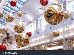 new years decorations malls central part stock photo 19440664