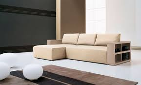 modular sofa with smart storage system and artistic floor lamp for