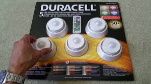 Dimmable Led Puck Lights Unboxing Duracell 5 Led Puck Lights With Remote 4 Color Dimmable