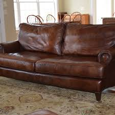 Henredon Leather Sofa Henredon Brown Leather Sofa Ebth