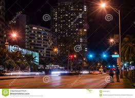 imagenes miami de noche miami beach streets at night editorial image image of beach city