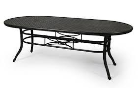 cast aluminum dining table 9000 series 42x84 oval cast aluminum dining table by mallin aminis