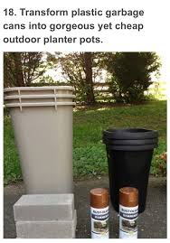 garbage can planters creative ideas u0026 crafts pinterest