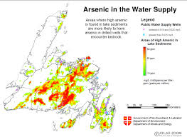 Newfoundland Canada Map by Standards For Drinking Water Canadian Environmental Health Atlas