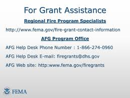 fema help desk phone number assistance to firefighters grant program afg workshop june 23 ppt