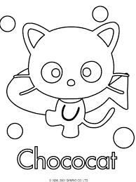 sanrio coloring pages chococat hello kitty kitty and patterns