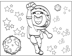 astronaut coloring page happy astronaut coloring page