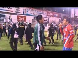 disturbios en juego xelaju mc cremas semifinal vuelta