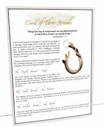 3 cords wedding ceremony a stunning cord of three strands wedding knot with