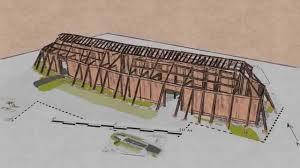 viking longhouse construction youtube