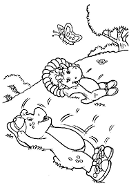 coloring barney coloring pages 7