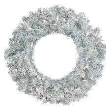 silver wreaths garlands target