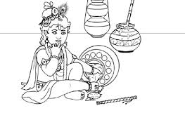 drawings baby krishna colour drawing free wallpaper lord baby