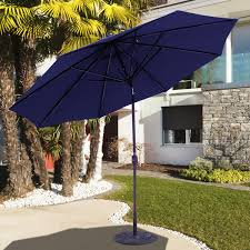Aluminum Patio Umbrella by Galtech 11 Ft Aluminum Patio Umbrella With Crank Lift And Deluxe