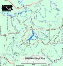 Pennsylvania State Parks Map by Allegheny Front Trail Pennsylvania