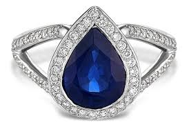 sapphire and engagement rings pear shaped blue sapphire halo v band engagement ring