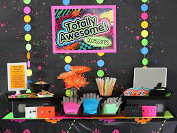 80s party table decorations 80s party ideas kids party ideas at birthday in a box