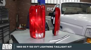 ford lightning tail lights 1993 1995 f 150 svt lightning tail light kit review install