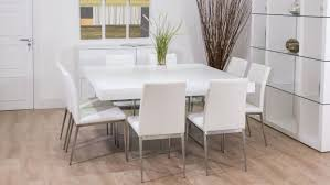 Square Dining Table 8 Chairs White Dining Table For 8 Maggieshopepage