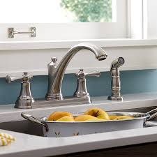 portsmouth 2 handle kitchen faucet with side spray american standard