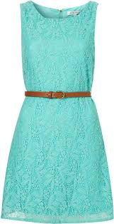 topshop belted lace dress by rare in blue aqua bridesmaids
