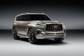 infinity car back infiniti u0027s qx80 monograph concept debuts with bolder more