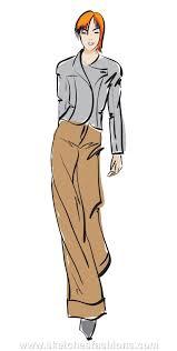 sketches fashions hand drawn fashion model sketch pants