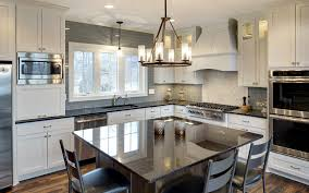 classic gray and white open floor plan kitchen 2016 gonyea homes