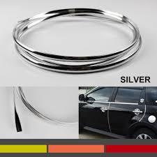 Diy Molding Diy U Style Flexible Chrome Silver Car Truck Door Edge Guard Trim