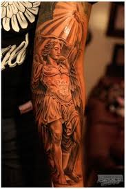 archangel michael tattoo killer back piece design ink u0027d up