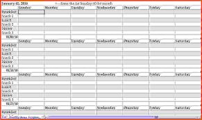 weekly meal planner template monthly dinner planner template jpg