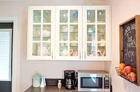 Glass Door Kitchen Wall Cabinet Wall Cabinets With Glass Doors There Are Two Units Of Half Glass