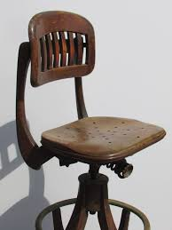 Table Marvelous Antique American Industrial Drafting Stool At