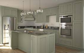 Already Assembled Kitchen Cabinets Society Shaker Sage With Brushed Chocolate Glaze