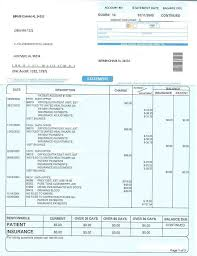 Sle Of Credit Card Statement by Patient Statement