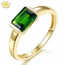 emerald gold rings images Hutang genuine 9k yellow gold ring emerald cut 1 0 carat real jpg