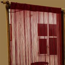 heavy weight string curtains 90x200cm fly screen room door divider