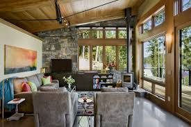 Wood Ceiling Designs Living Room by Home Design Rustic Living Room Design With Gray Recliner Chairs