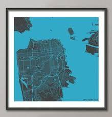 san francisco map painting san francisco map watercolor painting giclee modern