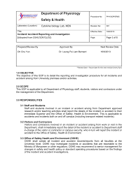 workplace investigation report template department of physiology safety health