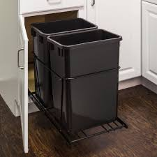 double 35 quart trash can pullout all cabinet parts