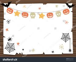 wooden sign halloween party notice ready stock vector 63216055