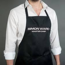 Personalized Kitchen Aprons Personalised Black Apron Gettingpersonal Co Uk