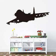 airplane home decor jet airplane wall decals waterproof vinyl kids room stickers home